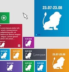 Leo zodiac icon sign buttons modern interface vector