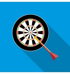Darts icon flat style vector