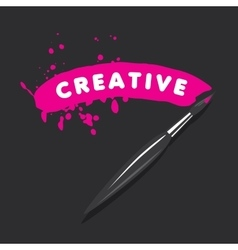 logo brush and blots of paint vector image