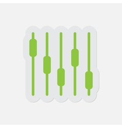 Simple green icon - mixing console equalizer vector