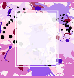 Pink maroon purple lilac ink splashes ellipse vector