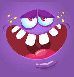 Cartoon scary monster face vector
