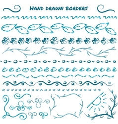 Set of hand drawn design elements vector