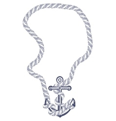Anchor with rope vector