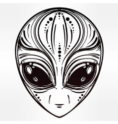 Alien face icon vector