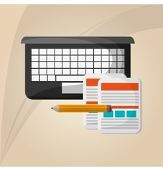 Flat about technology design vector