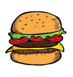 Beef Burger vector image