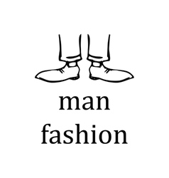 Man feet in shoes on a white background vector
