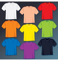 Blank t-shirts templates vector