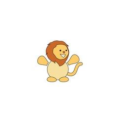 Cartoon style lion mascot vector image