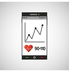 cellphone health tool virtual app vector image