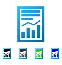 Chart report page flat gradient icon vector