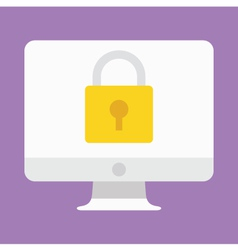 Computer Display Security Icon vector image vector image