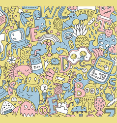 Detailed doodle pattern vector
