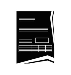 document contract official vector image