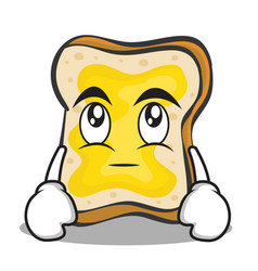 Eye roll face bread character cartoon vector