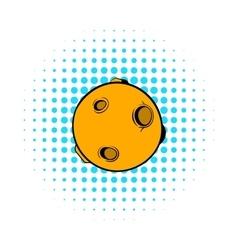 Full moon icon comics style vector image vector image
