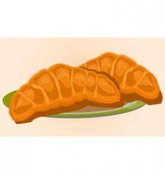golden croissants vector image vector image