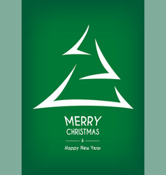 green abstract merry christmas tree arrow vector image