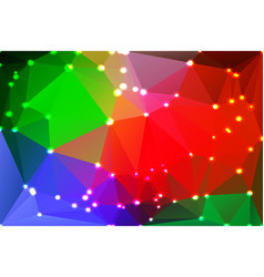 green blue orange red geometric background with vector image