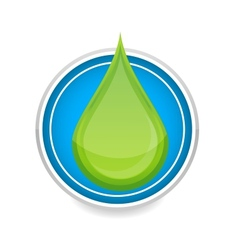 green nature eco drop symbol vector image vector image