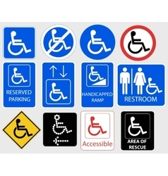 Handicap Symbol Graphic - vector image