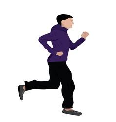 Man jogging vector