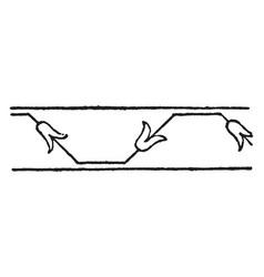 persian design is a border design vintage vector image