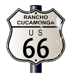 Rancho cucamonga route 66 sign vector