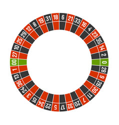 roulette casino wheel template with double zero on vector image