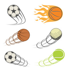 set of sports balls vector image