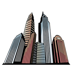Skyscrapers art vector