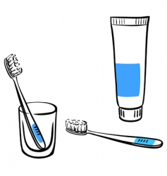 tooth brushing vector image