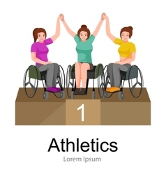 Rio 2016 brazilian game for handicapped vector