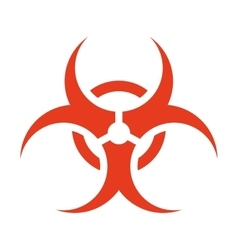 Biohazard symbol isolated icon vector