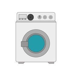 Washing machine laundry vector