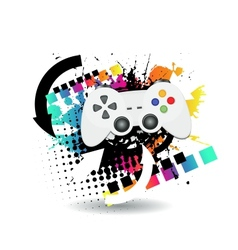 game joypad vector image