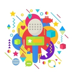 Abstract bright colorful multimedia mass media vector