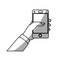 Isolated smartphone device design vector