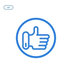flat line hand icon vector image