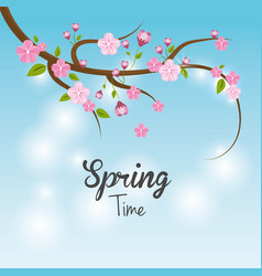 Beautiful spring tree icon vector