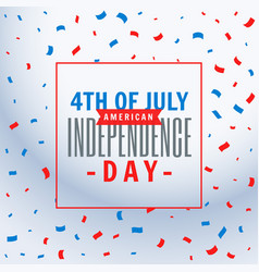 July 4th celebration background vector