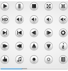 Buttons for Media Player vector image