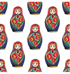 Nesting doll the traditional symbol of russia vector