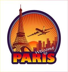 Travel paris vector