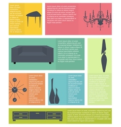 Infographic of interior home furniture icons vector