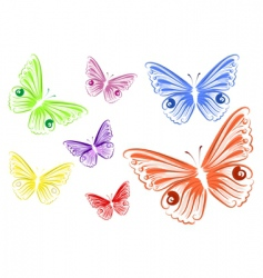 butterfly jig vector image