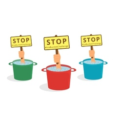 Stop ice bucket challenge vector