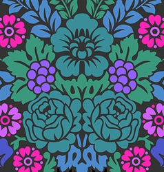 Damask floral pattern royal wallpaper vector