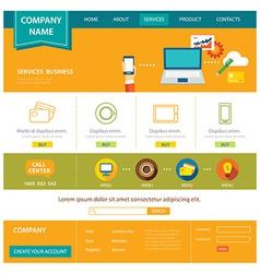 Business website template flat design vector